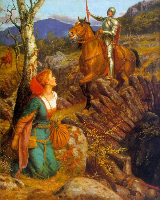 Overthrowing of the Rusty Knight 1894 1908 | Arthur Hughes | oil painting