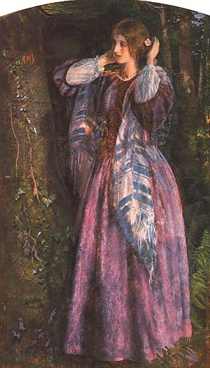 Amy study 1853 1854 | Arthur Hughes | oil painting