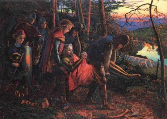 The Knight of the Sun reduced version 1860 1861 | Arthur Hughes | oil painting