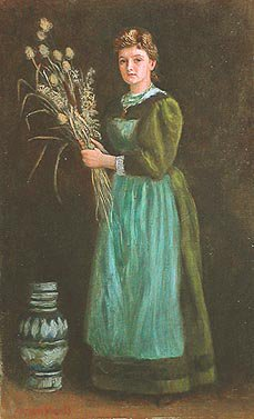 Portrait of Lucy Hill 1889   Arthur Hughes   oil painting