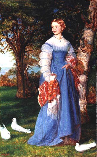 Portrait of Mrs Louisa Jenner 1867 | Arthur Hughes | oil painting