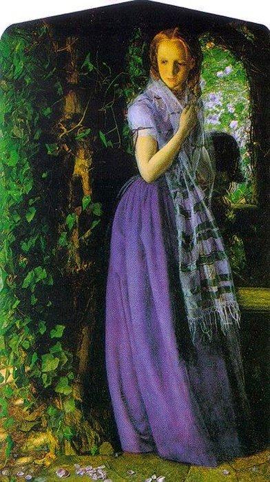 April Love 1855 1856 | Arthur Hughes | oil painting
