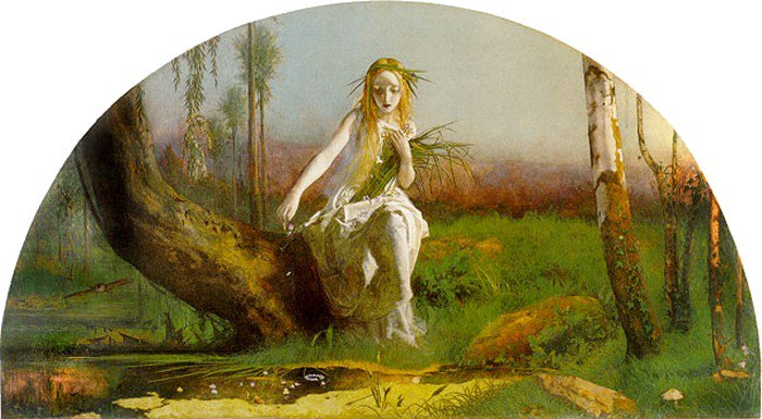Ophelia 1851 1854 | Arthur Hughes | oil painting