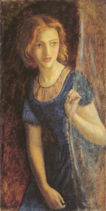 Mariana at the Window 1865 1867   Arthur Hughes   oil painting