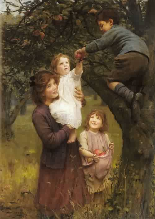 Picking Apples | Arthur John Elsley | oil painting