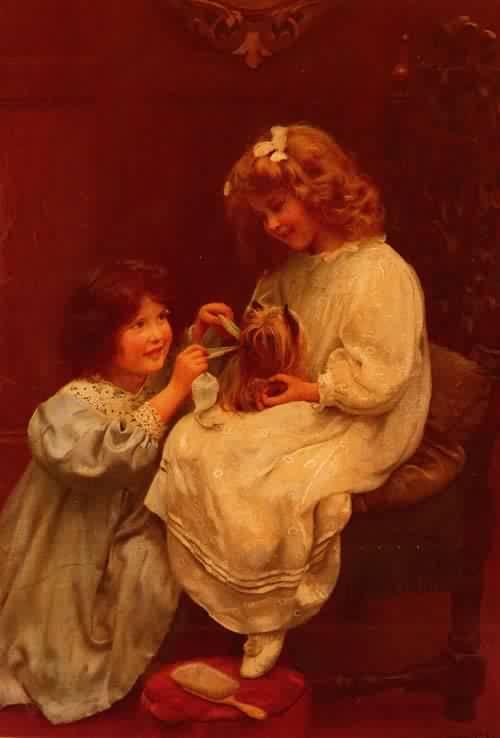 The Blue Ribbon | Arthur John Elsley | oil painting