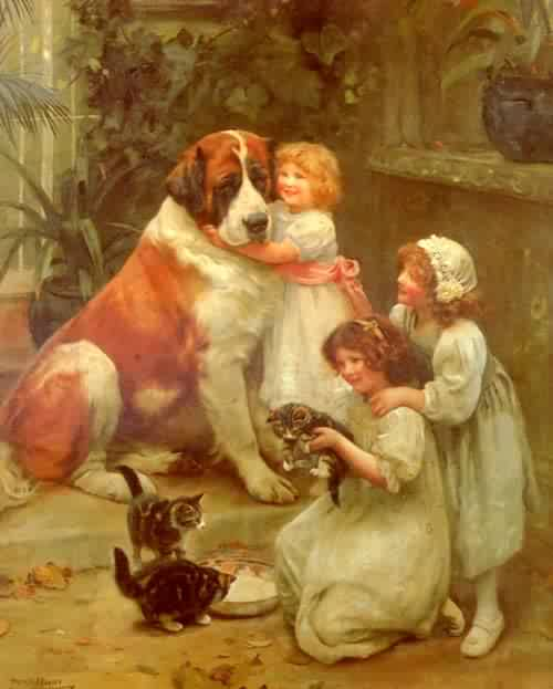 Family Favourites | Arthur John Elsley | oil painting