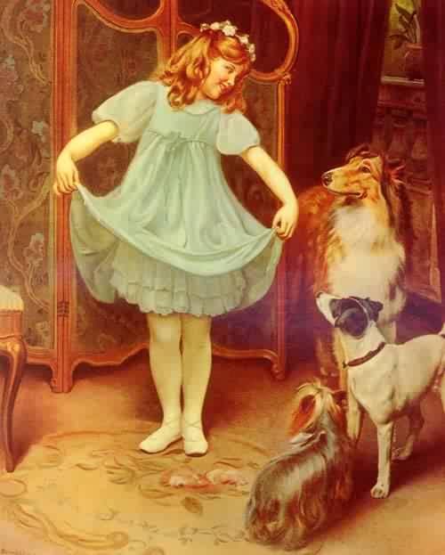 The New Dress | Arthur John Elsley | oil painting