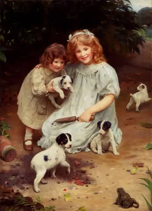 An Uninvited Guest | Arthur John Elsley | oil painting