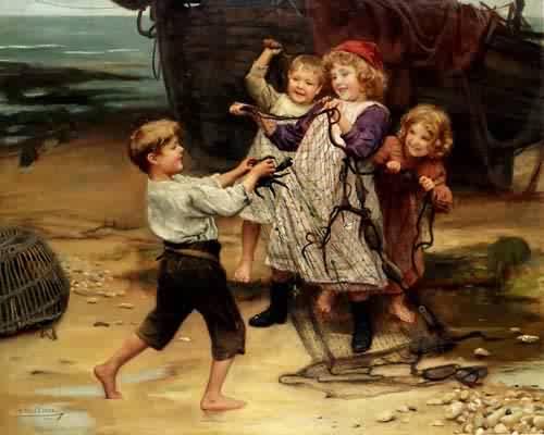 The Days Catch | Arthur John Elsley | oil painting