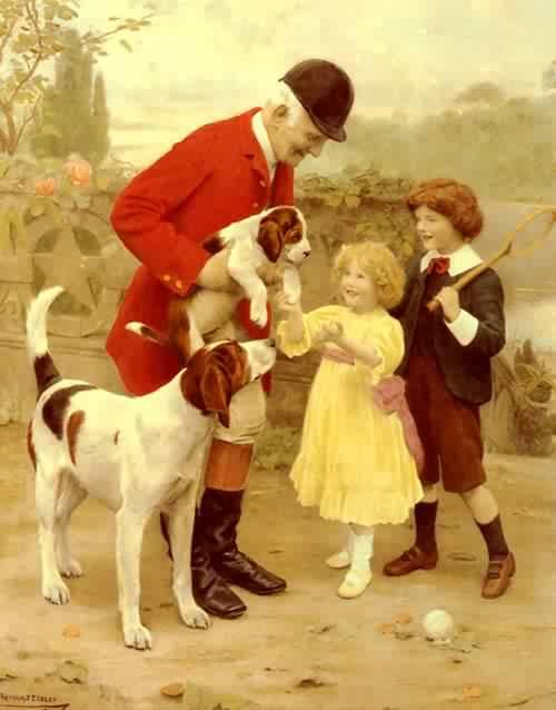 The Huntsmans Pet | Arthur John Elsley | oil painting
