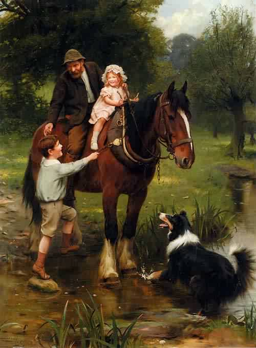 A Helping Hand | Arthur John Elsley | oil painting