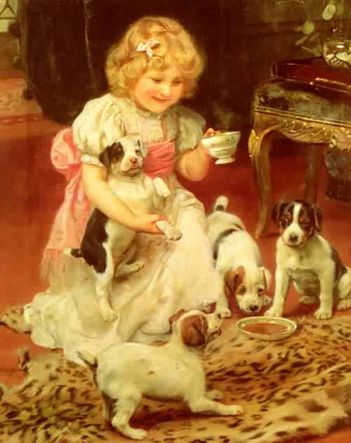 Tea Time | Arthur John Elsley | oil painting