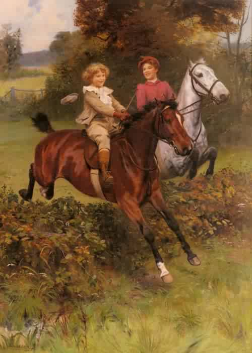 His First Fence | Arthur John Elsley | oil painting
