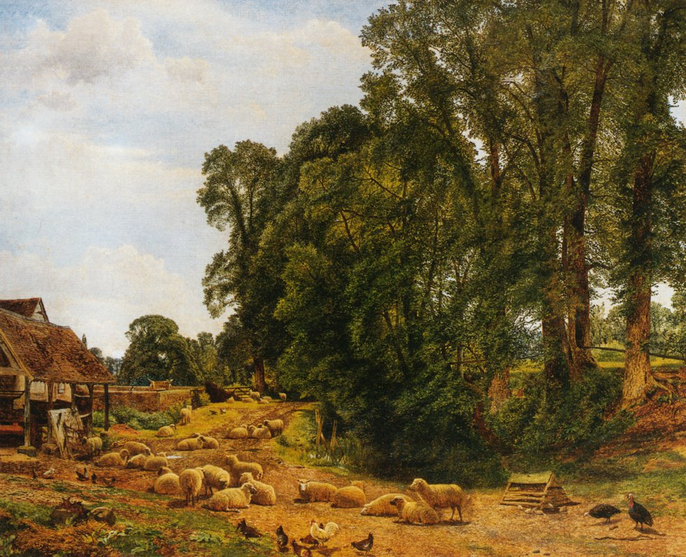Outskirts of a Farm 1860 | Benjamin Leader | oil painting