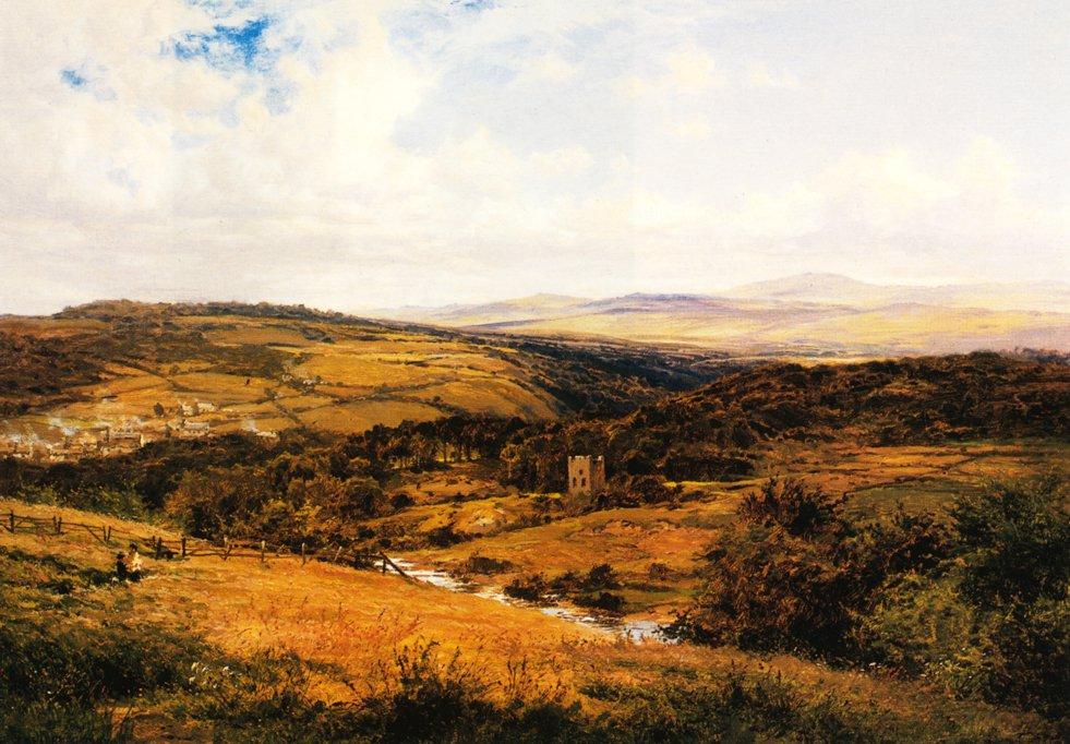 On the Borders of Dartmoor 1881 | Benjamin Leader | oil painting
