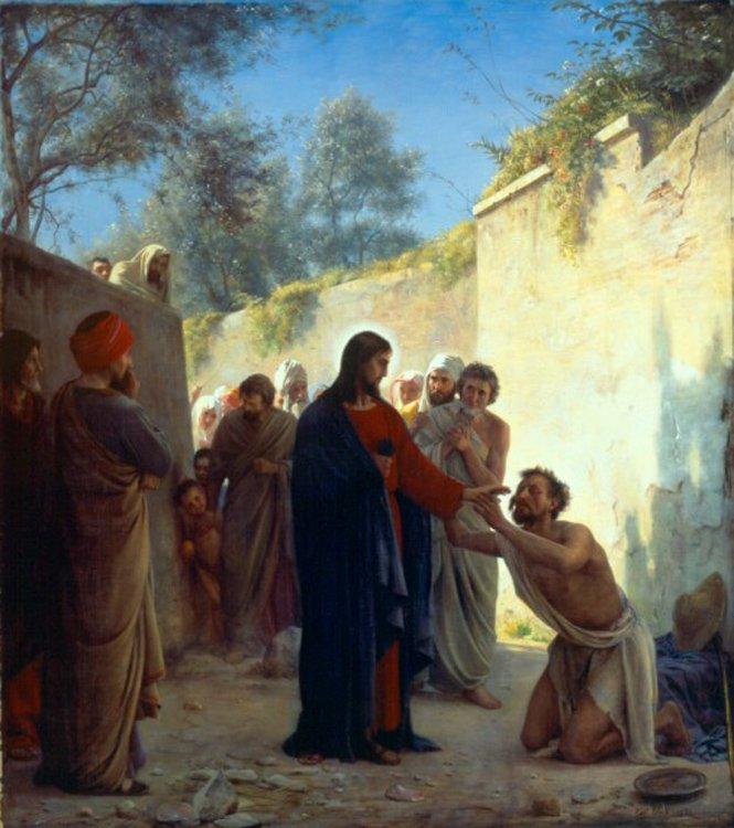 Christ Healing | Carl Heinrich Bloch | oil painting