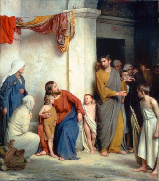 Christ with Children | Carl Heinrich Bloch | oil painting