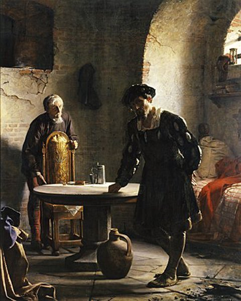 The Imprisoned Danish King Christian II | Carl Heinrich Bloch | oil painting