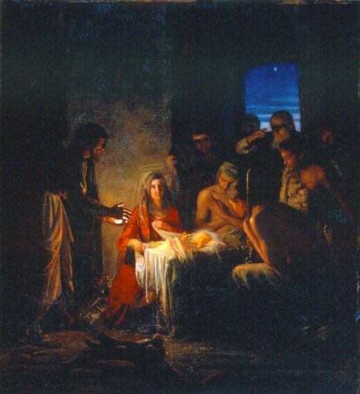 The Birth of Christ | Carl Heinrich Bloch | oil painting