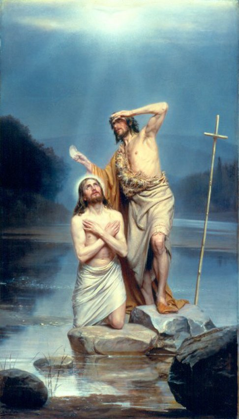 The Baptism of Christ | Carl Heinrich Bloch | oil painting