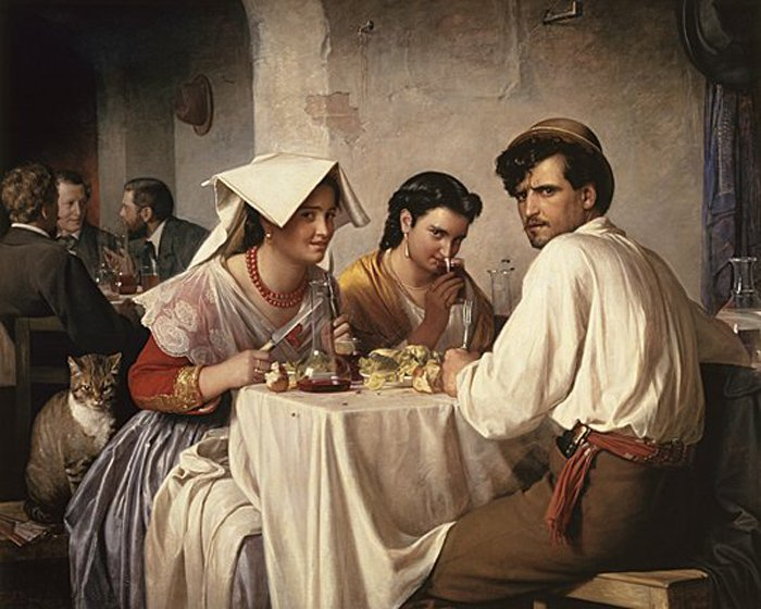 Osteria | Carl Heinrich Bloch | oil painting