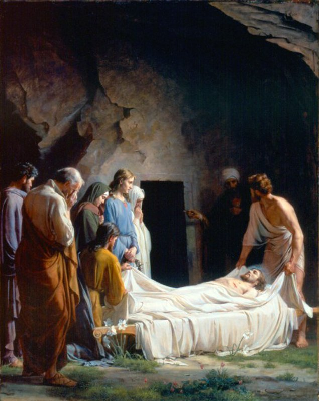 The Burial of Christ | Carl Heinrich Bloch | oil painting
