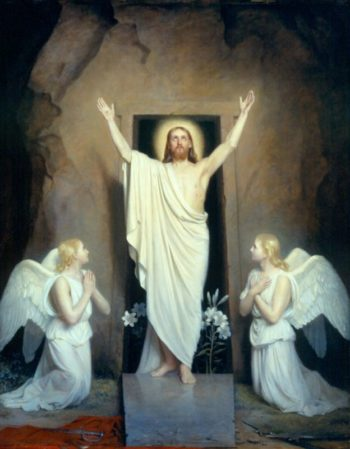 The Resurrection II   Carl Heinrich Bloch   oil painting