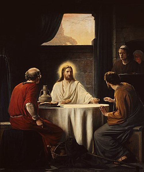 Supper at Emmaus | Carl Heinrich Bloch | oil painting