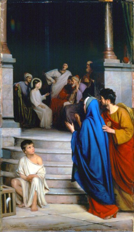 Christ Teaching at the Temple | Carl Heinrich Bloch | oil painting