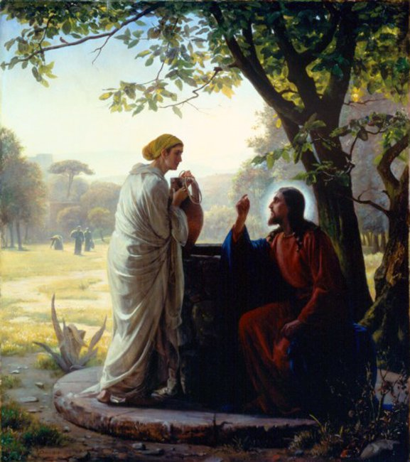 Woman at the Well | Carl Heinrich Bloch | oil painting