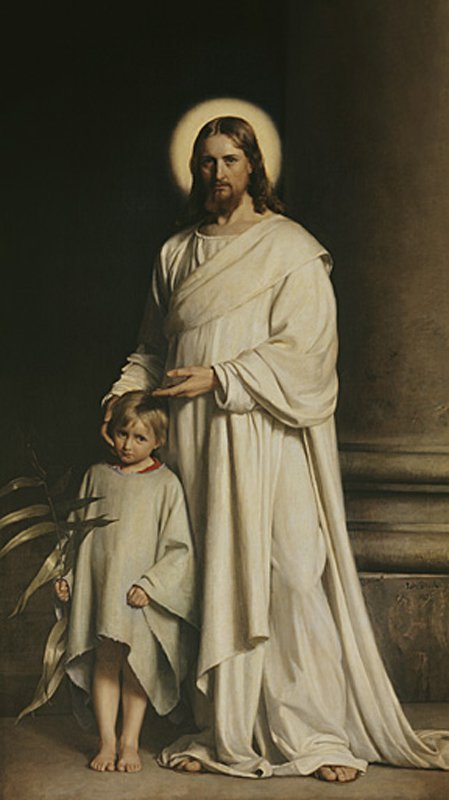 Christ and a Boy | Carl Heinrich Bloch | oil painting