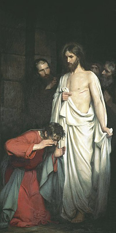 Doubting Thomas | Carl Heinrich Bloch | oil painting
