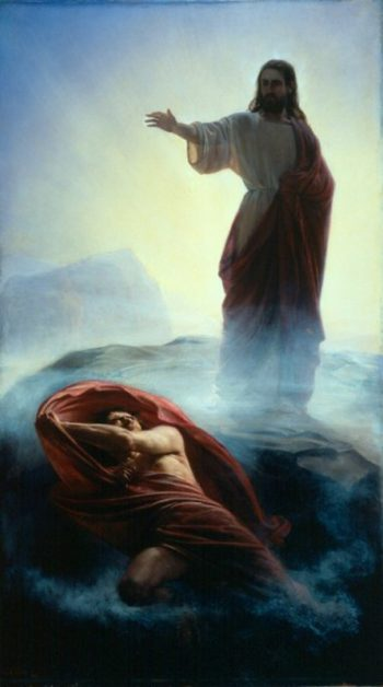 Denying Satan | Carl Heinrich Bloch | oil painting