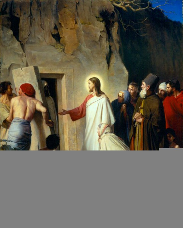 The Raising of Lazarus | Carl Heinrich Bloch | oil painting
