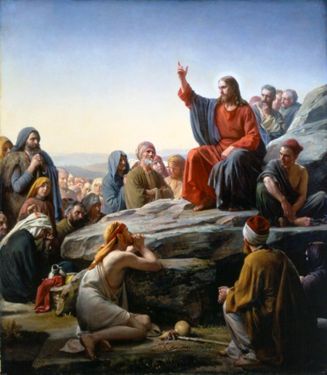 The Sermon on the Mount | Carl Heinrich Bloch | oil painting