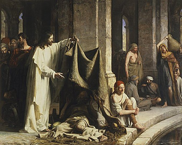 Christ Healing by the Well of Bethesda | Carl Heinrich Bloch | oil painting