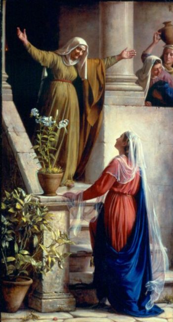 Mary and Elizabeth | Carl Heinrich Bloch | oil painting