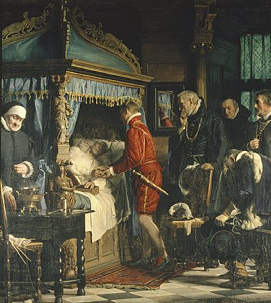Chancellor Niels Kaas handing over the keys to Christian IV | Carl Heinrich Bloch | oil painting