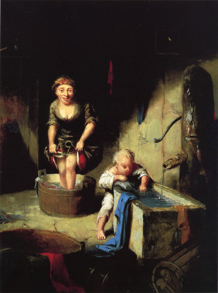 Wash Day 1858 1859 | David Gilmore Blythe | oil painting