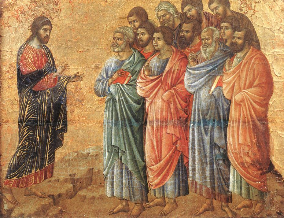 Appearence on the Mountain in Galilee | Duccio di buoninsegna | oil painting