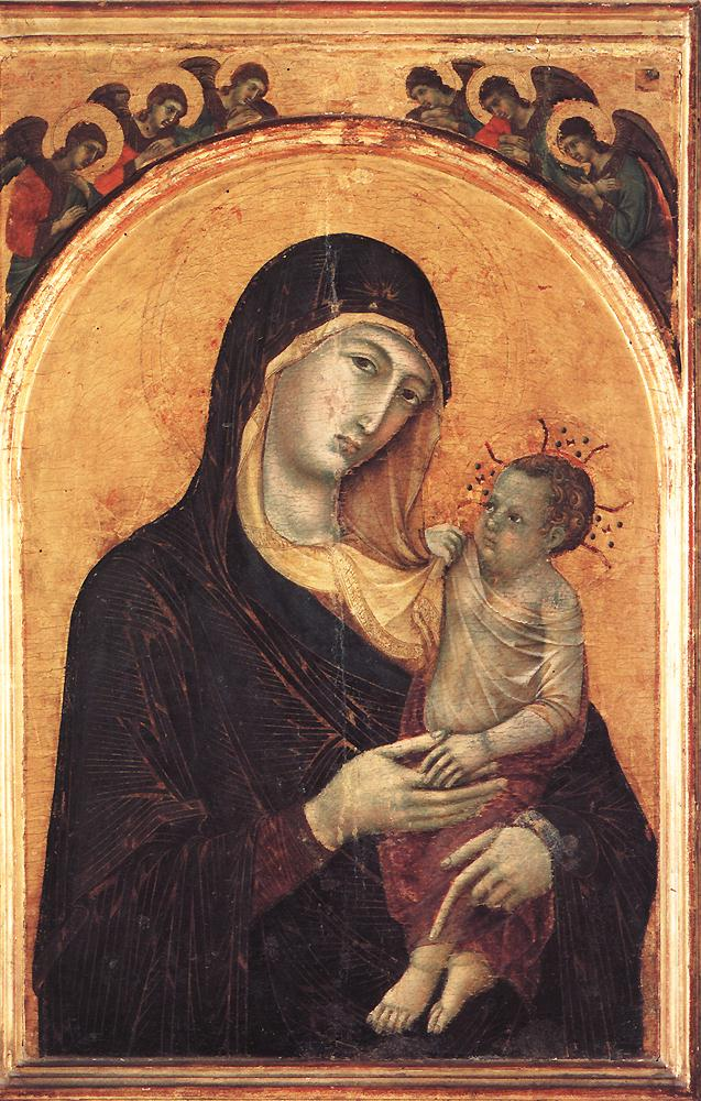 Madonna and Child with Six Angels | Duccio di buoninsegna | oil painting