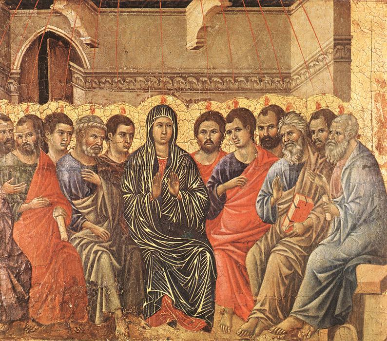 Pentecost | Duccio di buoninsegna | oil painting