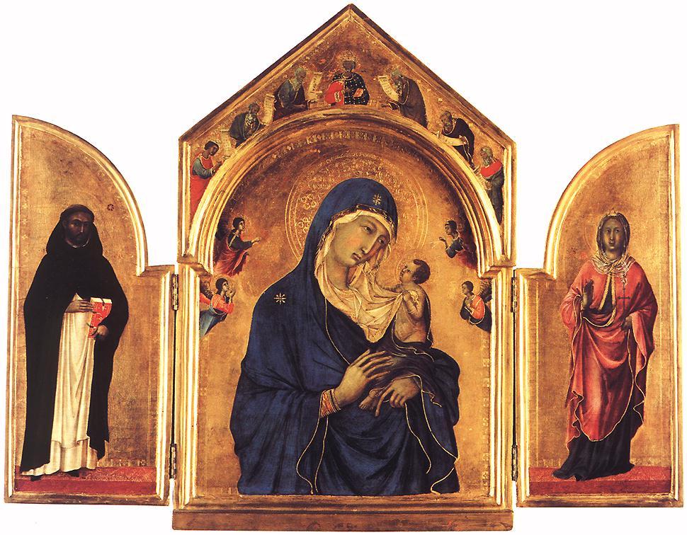 Triptych | Duccio di buoninsegna | oil painting
