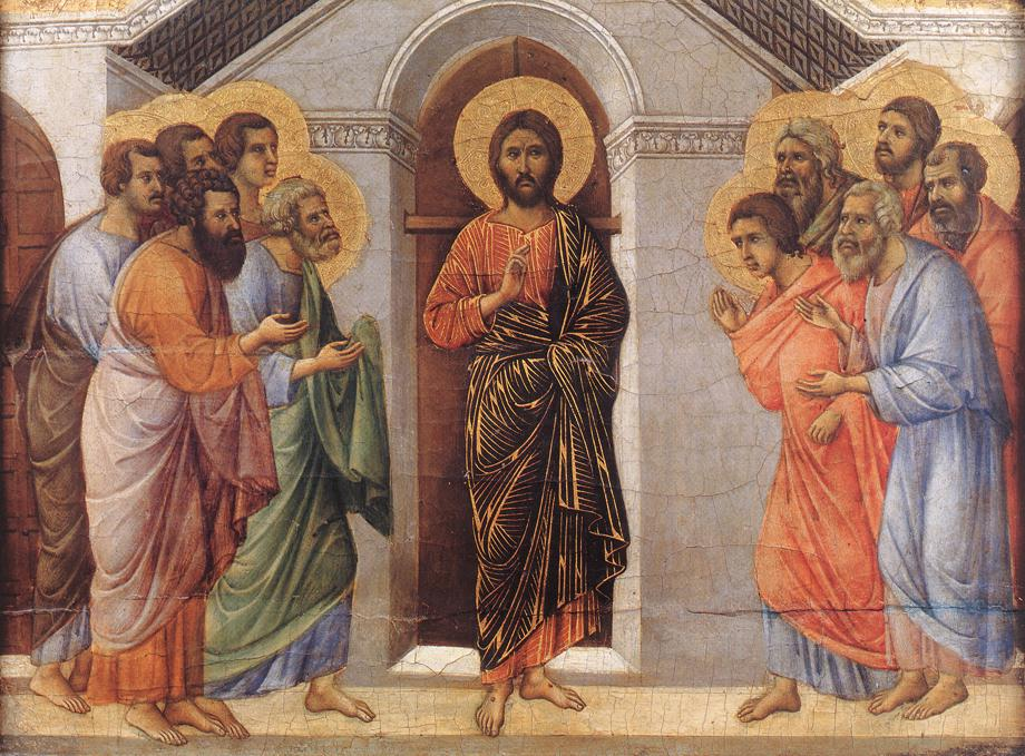 Appearence Behind Locked Doors | Duccio di buoninsegna | oil painting