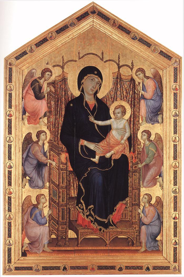 Rucellai Madonna | Duccio di buoninsegna | oil painting