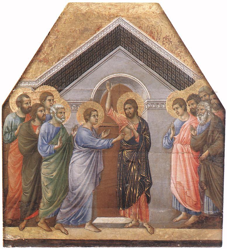 Doubting Thomas | Duccio di buoninsegna | oil painting