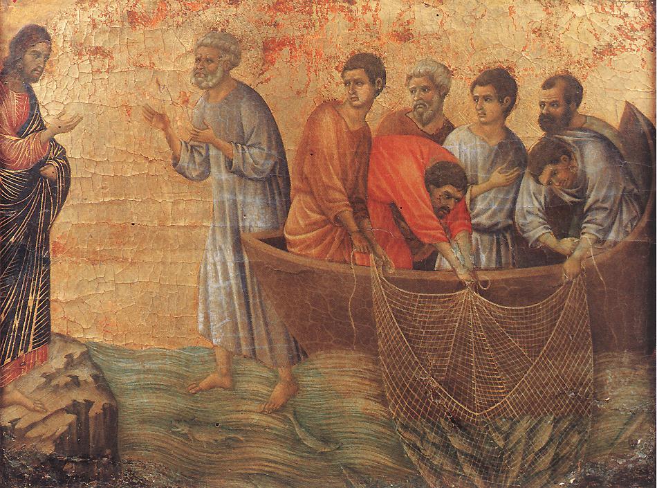 Appearence on Lake Tiberias | Duccio di buoninsegna | oil painting