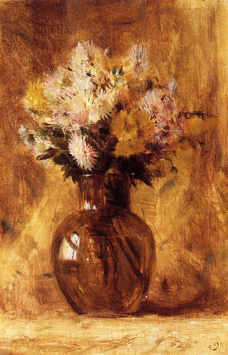 Chrysanthemums 1890 | Dwight Tyron | oil painting