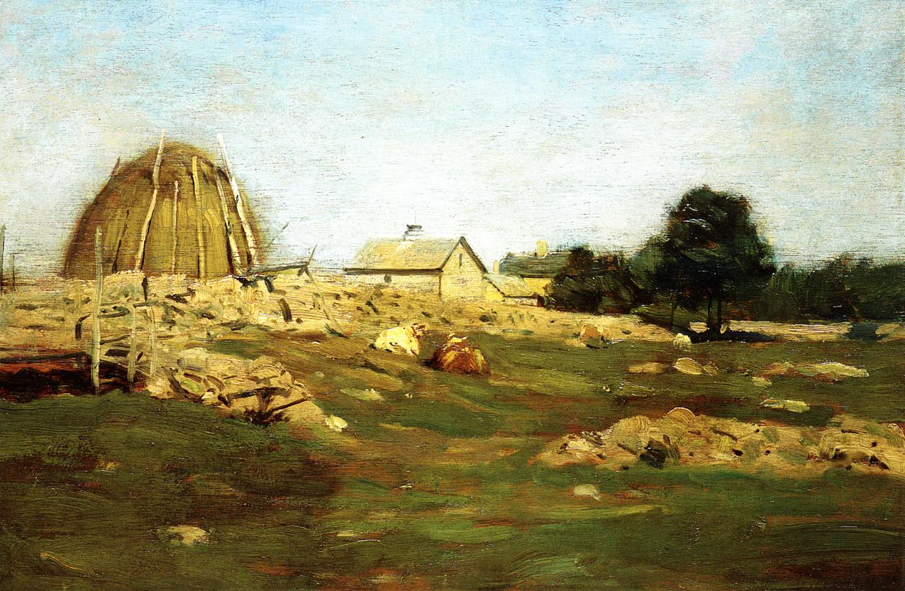 Farmyard 1896 | Dwight Tyron | oil painting